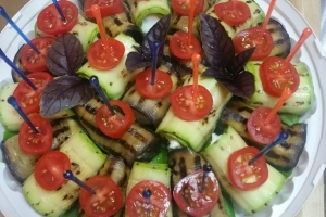 Рулетики из овощей