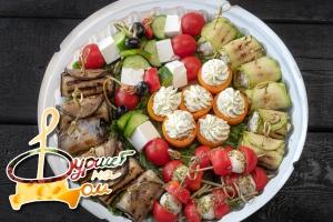 Набор закусочный из овощей и сыра 30 шт