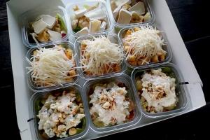 Набор из салатов в стаканчиках 9 шт