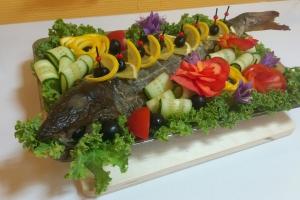 Рыба фаршированная (кета) грибами